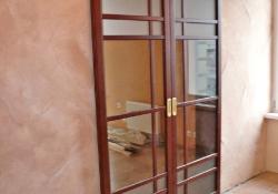 раздвижная дверь из массива дуба
