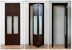 складная деревянная дверь в шкаф