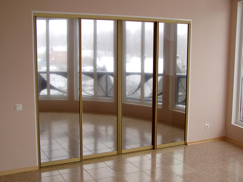Зеркальная откатная дверь для шкафа или гардеробной на заказ