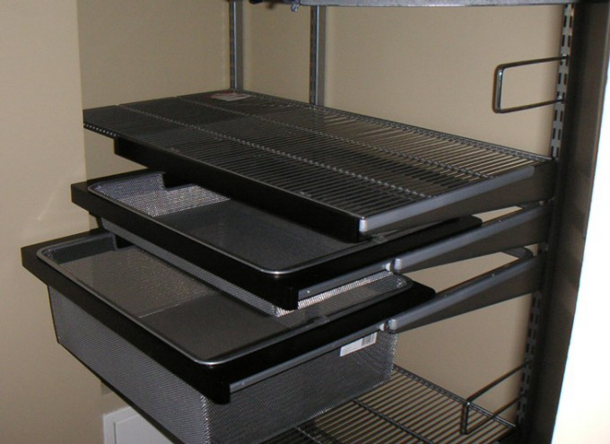 выдвижные ящики гардеробной системы Эльфа