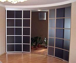 раздвижные радиусные перегородки для свободной планировки квартиры