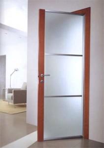 двери с алюминиевой коробкой межкомнатные