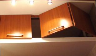 фото: шкафы антресоли со складными дверями