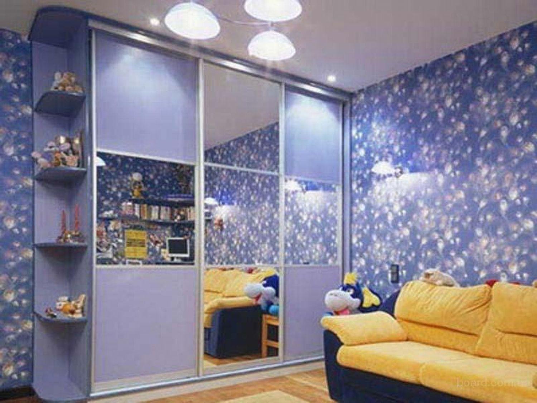 шкаф купе в интерьере детской комнаты