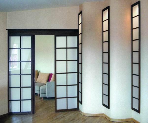 раздвижные двери в две створки купить