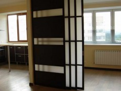 перегородки между кухней и гостиной полуматовые стеклянные