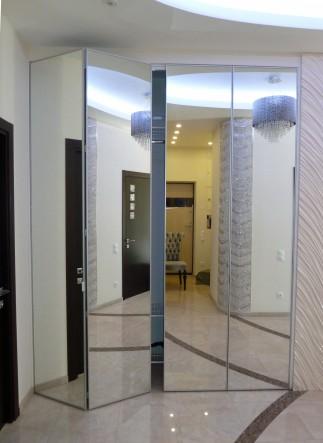 зеркальные складные дверки для шкафов на заказ в спб