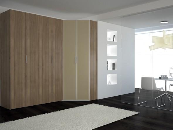 распашные алюминиевые двери в шкаф - дизайн