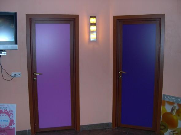 распашная дверь в сауну, полотно - пластик
