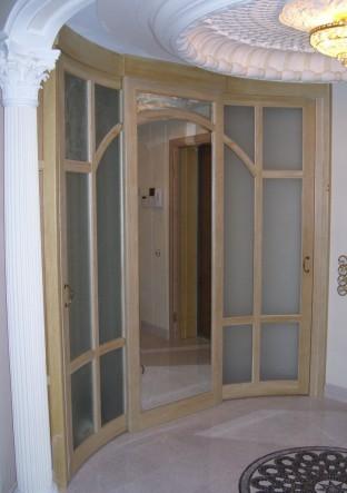 радиусные двери из массива изготовление