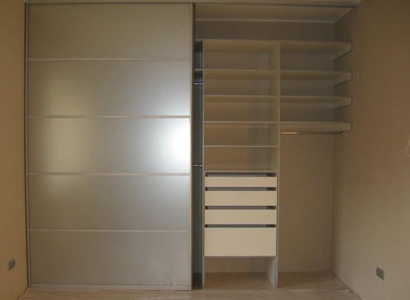 система раздвижных мебельных дверей для встроенного шкафа