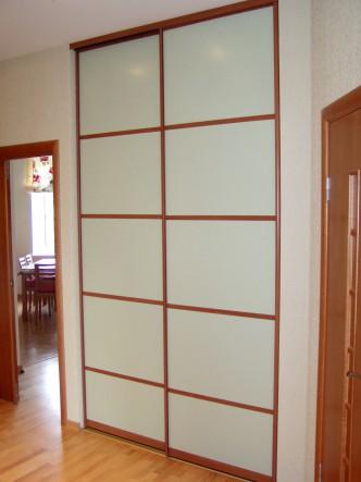 алюминиевая дверь купе для встроенного шкафа