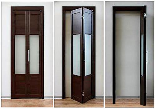 интерьерные складные двери фото