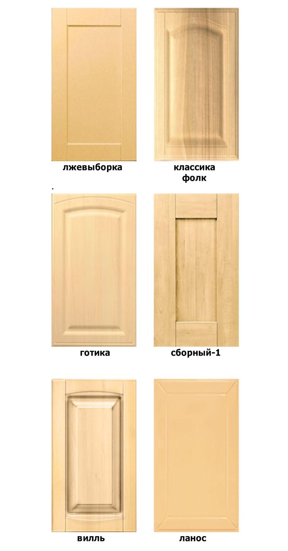 виды фрезеровки дверей в стиле кантри