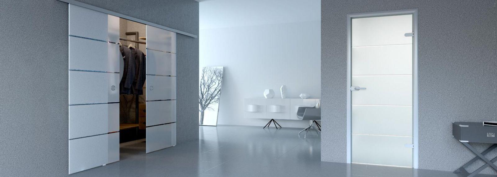 Раздвижные двери в гостиной