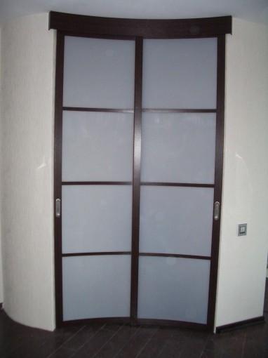 раздвижная тонированная дверь скругленная